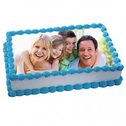 5th Anniversary Photo Cake Eggless 2kg